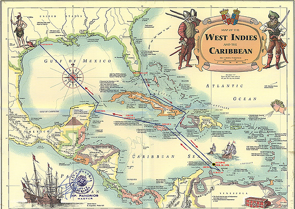Caribbean Cruise'98 Map