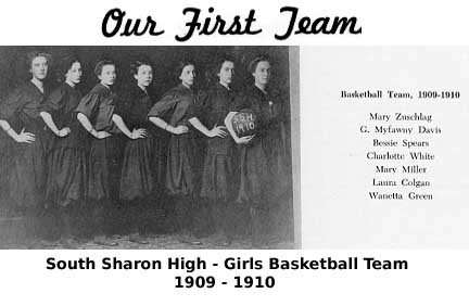 [First Girls Basketball Team 1909-1910]