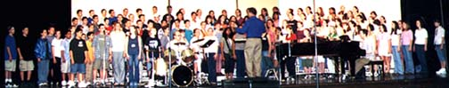 [Tom Pedas with Junior High Honor Choir]