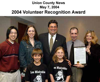 [News Article - Union County Volunteer award]